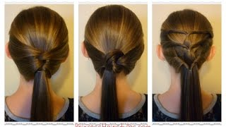 3 quick and easy ponytails back to school hairstyles