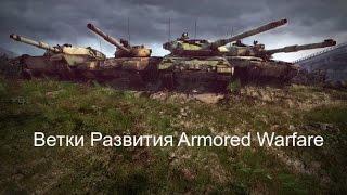 Ветки развития Armored Warfare