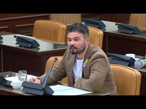 Rifirrafe entre Ignacio González y Gabriel Rufián en el Congreso