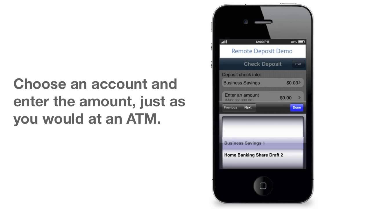 Mobile Check Deposit from CommunityAmerica Credit Union