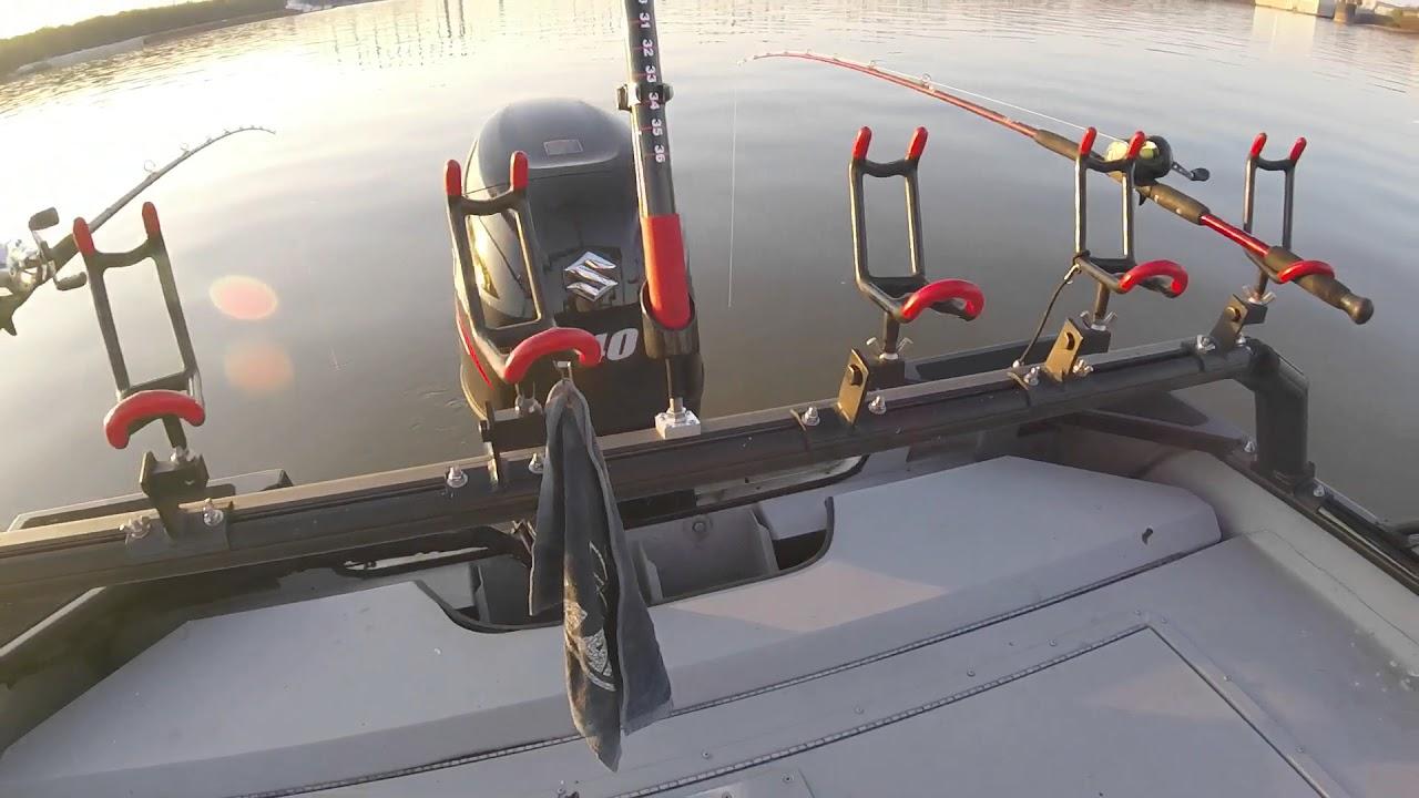 SeaArk Cat Rack rod rack system with Monster Rod Holders ...