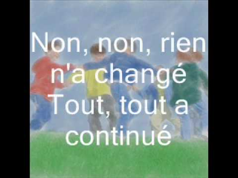 Les Poppys - Non, Non, Rien N'a Change (paroles)