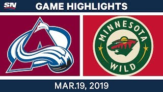 NHL Game Highlights   Avalanche vs. Wild - March 19, 2019