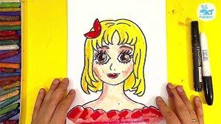 Как нарисовать ЛИЦО ПРИНЦЕССЫ девочки / Уроки рисования от РыбаКит