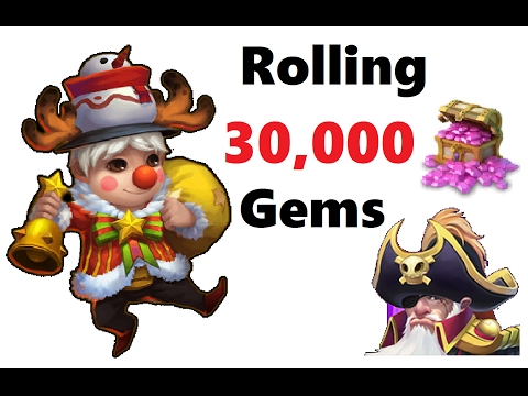 30k Gems LUCKY Rolling For Heroes Talents LiL Nick Revenant Castle Clash Knightrider0306