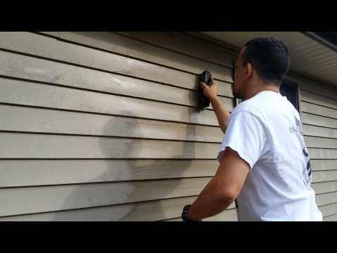 Clean vinyl siding on your house, no powerwasher