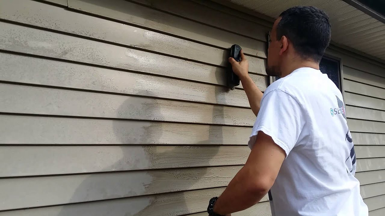 clean vinyl siding on your house no powerwasher youtube