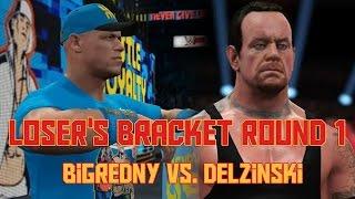 bigredny vs delzinski   wwe 2k youtuber king of the ring tournament lb round 1