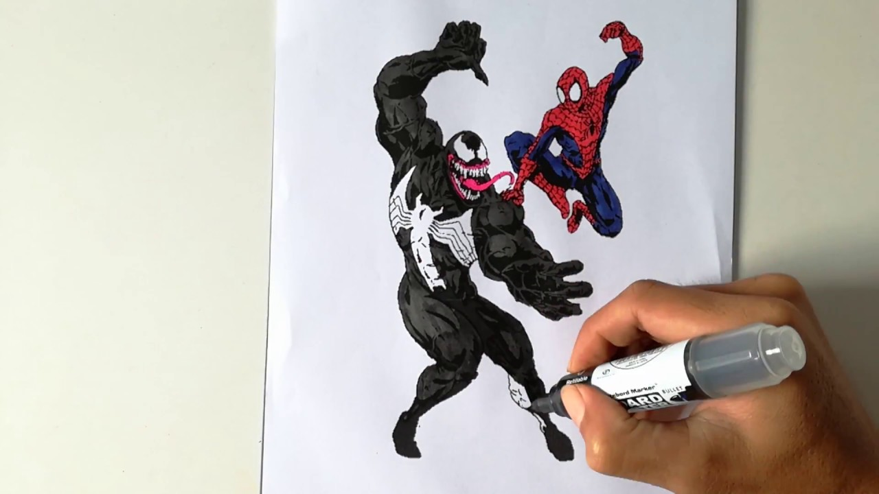 SPIDER-MAN HIT VENOM | Spider-Man Coloring Pages | SAILANY Coloring ...