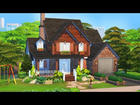 THE MOST BASIC SUBURBAN 💚 | The Sims 4: Speed Build