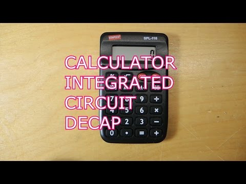Reverse Engineering a Simple Four Function Calculator: die decap