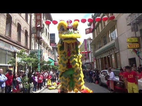 SF Chinatown High Bench Lion Routine+Parade 6/29/19