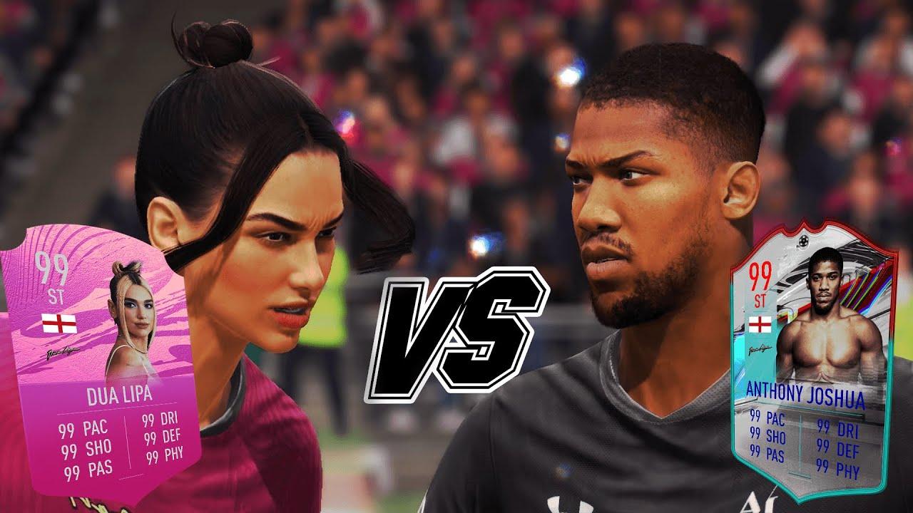 DUA LIPA VS ANTHONY JOSHUA on FIFA 21...