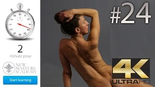 Poses to Sketch From: Figure Drawing Reference (DLDS # 24) - 4K Timed Nude Life Models Session