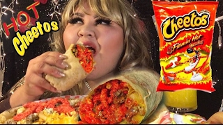 Hot Cheetos Burrito/ MUKBANG My Birthday? @Wendy's Eating Show