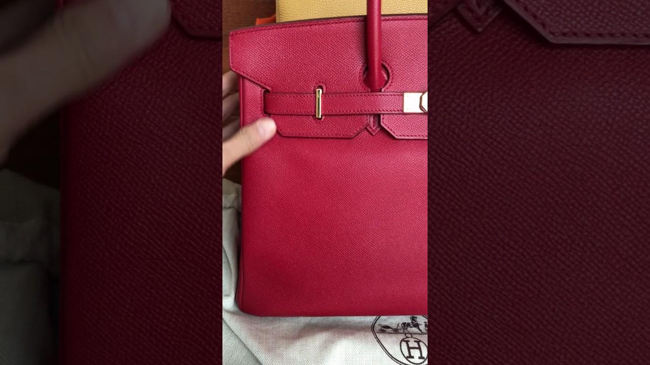 Birkin 35 leather comparison - YouTube 11c8fd229f
