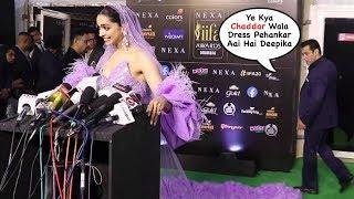 Salman Khan Makes FUN of Deepika Padukone DRESS At IIFA Awards 2019