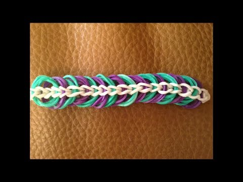 Brand New Simple To Loom Triple Link Chain Bracelet Youtube