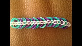 Repeat youtube video Brand New Simple to Loom Triple Link Chain Bracelet