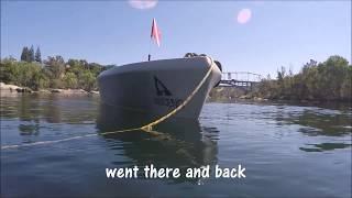 Kayak dive seeking lost treasures in Lake Natoma (the American River)