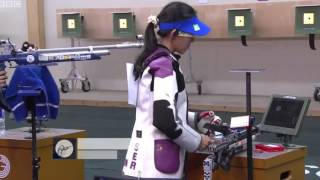 apurvi chandela wins gold for india 2014 commonwealth games 10 metres air rifle women