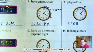 3rd grade GO Math: Lesson 10. 2 A.M. and P.M. pages 411-414