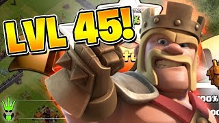 LEVEL 45 KING! - Road to Max TH11 - Clash of Clans - Queen Walk Miner Farming