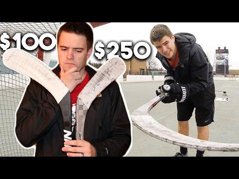 $100 HOCKEY STICK VS $250 HOCKEY STICK
