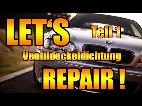 Let's Repair BMW -  E46 N42 Ventildeckeldichtung selber wechseln [BMW E46 318i N42] Teil 1 DIY
