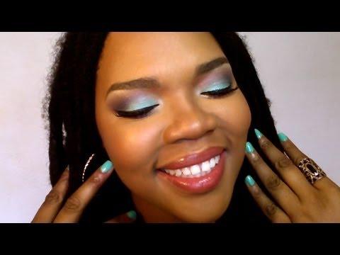Maquillage bleu violet id al pour les yeux marrons youtube - Maquillage bleu yeux marrons ...