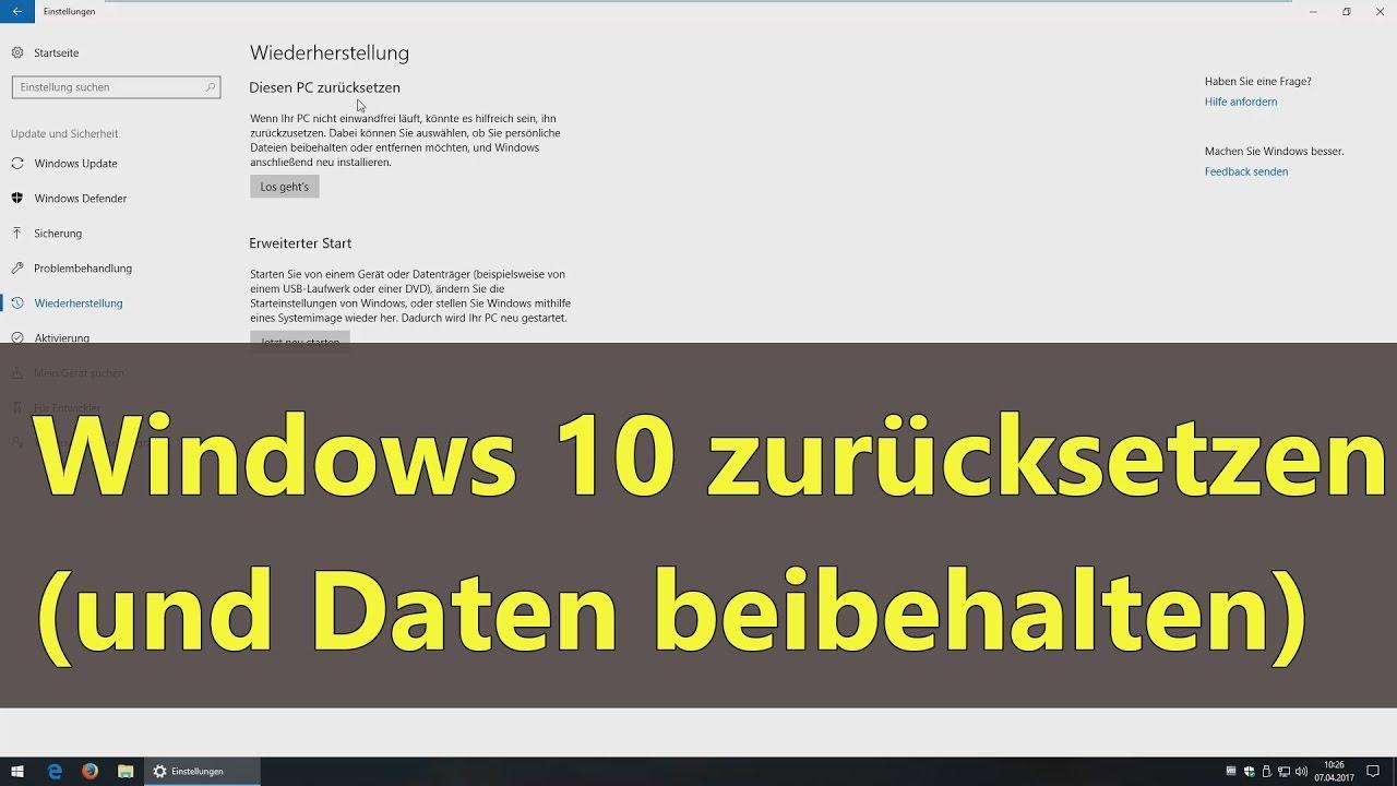 Laptop Auf Werkseinstellung Zurücksetzen Windows 8