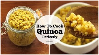 Quinoa - How To Cook Quinoa - Super Weight Loss Fat Burning Seed Grain -Indian Style Turmeric Quinoa