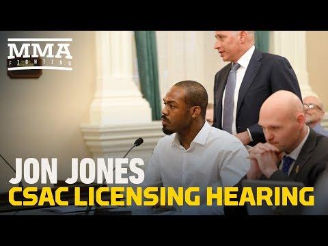 Jon Jones CSAC Licensing Hearing (Complete) - MMA Fighting