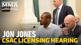 Jon Jones CSAC Licensing Hearing (Complete) - MMA Fighting