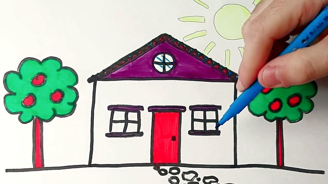 Comment Dessiner Une Maison Facile Au Crayon Dessin Maison Youtube