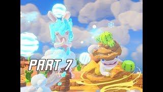 Mario + Rabbids Kingdom Battle Walkthrough Part 7 - BLIZZY & SANDY MIDBOSS (Switch Let's Play)