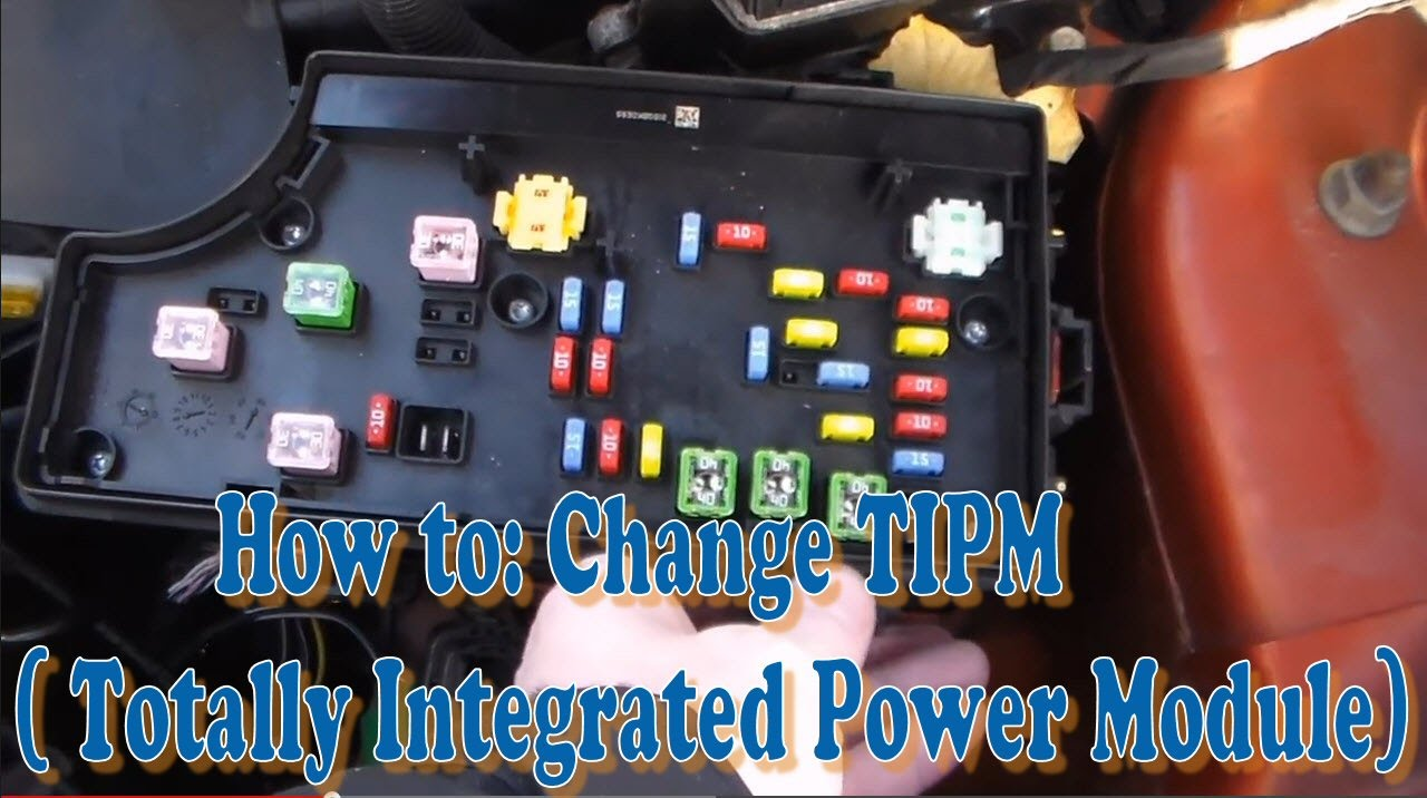 How to Change TIPM Totally Integrated Power Module Part 1 – Dodge Ram 1500 Tipm Fuse Diagram