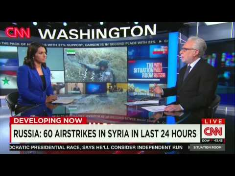 "CNN interview of Congresswoman Tulsi Gabbard: ""The CIA must stop illegal, counterproductive war to overthrow Assad."""