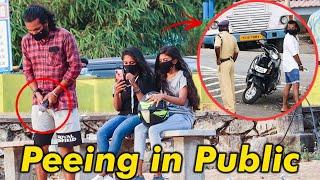 PEE Prank In Public. Makes Everyone Laugh.Funny Pranks.Malayalam Prank Videos KL Prank.