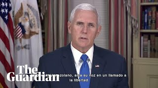 Mike Pence backs Venezuelan protesters seeking to oust President Nicolás Maduro