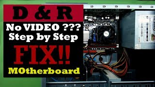 FIX No signal to Monitor from PC, How to Fix Your PC / FIX PC motherboard with NO VIDEO INPUT
