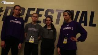 Post Race Reactions Stonehill Women's DMR at 2017 NCAA Indoor Championships