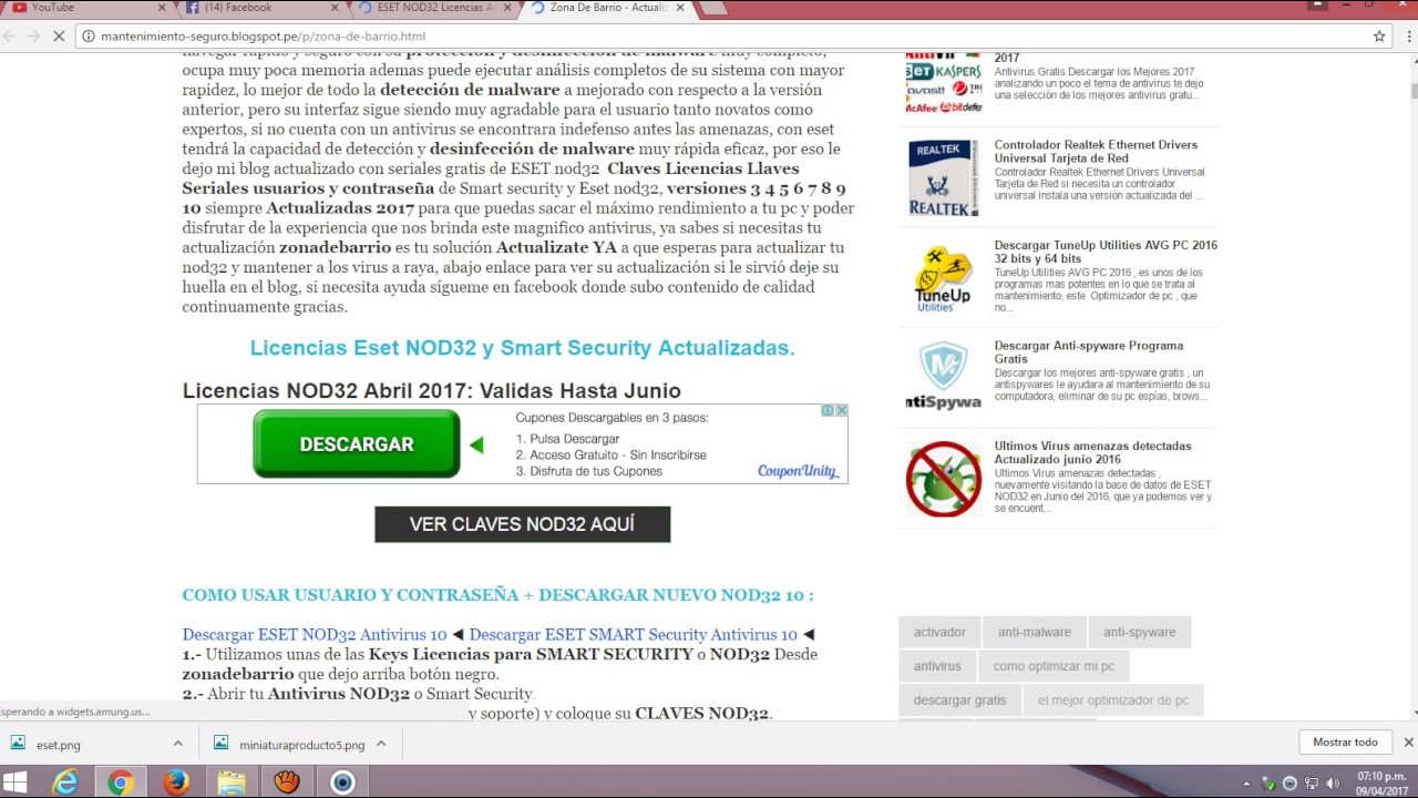 descargar antivirus nod32 gratis 2017