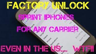 Domestic unlock Sprint iPhones how to.