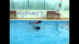 Tigger, Poohbear and Roobie Roo (Rottweilers) Swimming