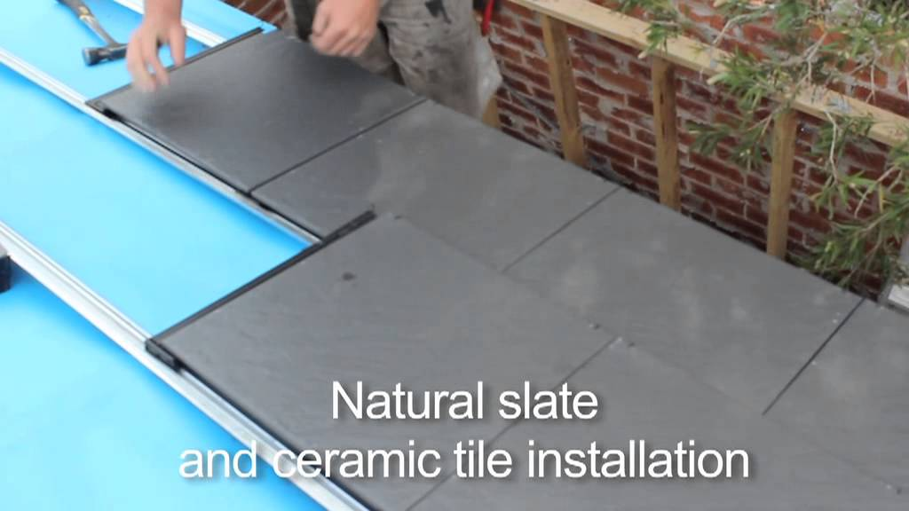 Natural Roof Slate Ceramic Tile Installation Youtube