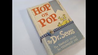 Altered Childrens Story Book into a Keepsake Junk Journal  - Re-purposed book titled Hop on Pop