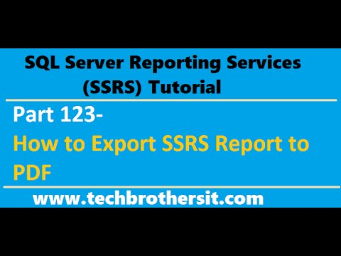 SSRS Tutorial Part 123 - How to Export SSRS Report to PDF