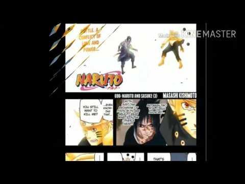 Naruto nd sasuke fight mañga ch 696