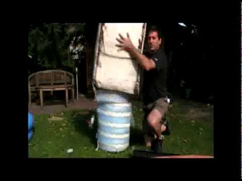 Part 1 of A simple way to insulate plastic tanks for solar hot water or compost heat storage